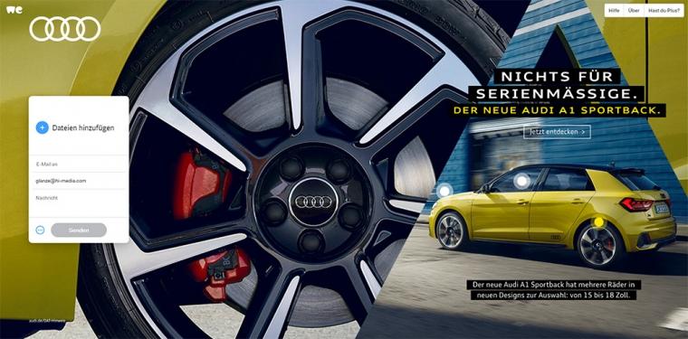 Audi auf WeTransfer